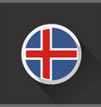 iceland national flag on dark background vector image vector image