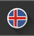 iceland national flag on dark background vector image
