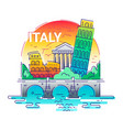 italy - modern line travel vector image
