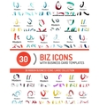 Large set of business line logos vector image