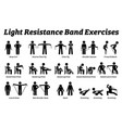 light resistance band exercises and stretch vector image vector image