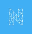 logo letter n dots lines vector image