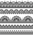 Mehndi Indian Henna tattoo seamless pattern desi vector image