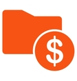 Money Folder icon from Business Bicolor Set vector image