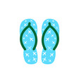 pair of colorful flip flops with planes vector image