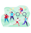 people have workout vector image vector image