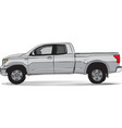 Pick-up truck side view vector image vector image