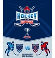 Poster of the championship in ice hockey vector image
