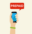 prepaid phone vector image vector image