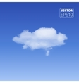 Realistic cloud on blue background vector image vector image