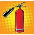 realistic red fire extinguisher pop art vector image