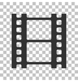 Reel of film sign Dark gray icon on transparent vector image vector image