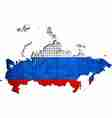 Russia map with flag inside vector image vector image