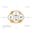 Science icons space technology vector image vector image
