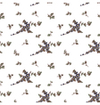 seampless pattern floral white background vector image vector image