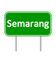 Semarang road sign vector image vector image