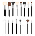 set of brushes for make up vector image