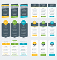 Set of Pricing Table Design Templates for Websites