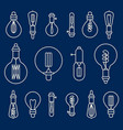 set of retro stylized linear electric bulbs vector image vector image