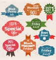 set of vintage discount labels vector image vector image