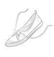 sketch summer gym shoes on a white background vector image vector image