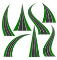 street roads icon travel concept vector image
