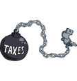 tax shackles vector image vector image