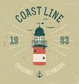 Vintage Coast Line Poster vector image vector image