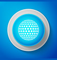 white golf icon isolated on blue background vector image