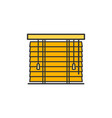 wooden shutters blinds and horizontal jalousie vector image vector image
