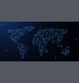 world map polygonal wireframe mesh looks like vector image vector image