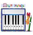 musical tasks vector image
