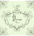 vintage calligraphic frame vector image