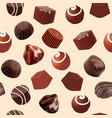background seamless with chocolate candy slice of vector image