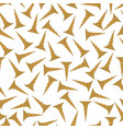 seamless pattern background with gold screw vector image