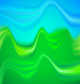 Abstract summer landscape with ripples vector image