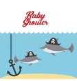 animal cute baby shower invitation vector image vector image