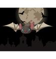 Bat in flight vector image