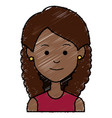 beautiful african woman avatar character vector image vector image
