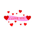 beautiful love text banner icon vector image vector image