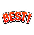 best red text in capitals vector image vector image