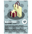black friday isometric poster vector image
