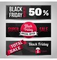 Black Friday Sale black background Super Sale vector image vector image