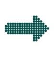 Blue dot arrow icon vector image vector image