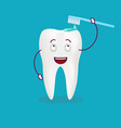 bush the tooth is fine isolated on a background vector image
