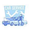 car service center lineart concept vector image vector image