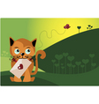 Cat with Envelope vector image vector image
