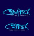 catch fish or cat fish wordmark vector image vector image