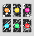 chalk line set of banners vector image