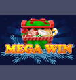 christmas mega win screen background for 2d game vector image vector image